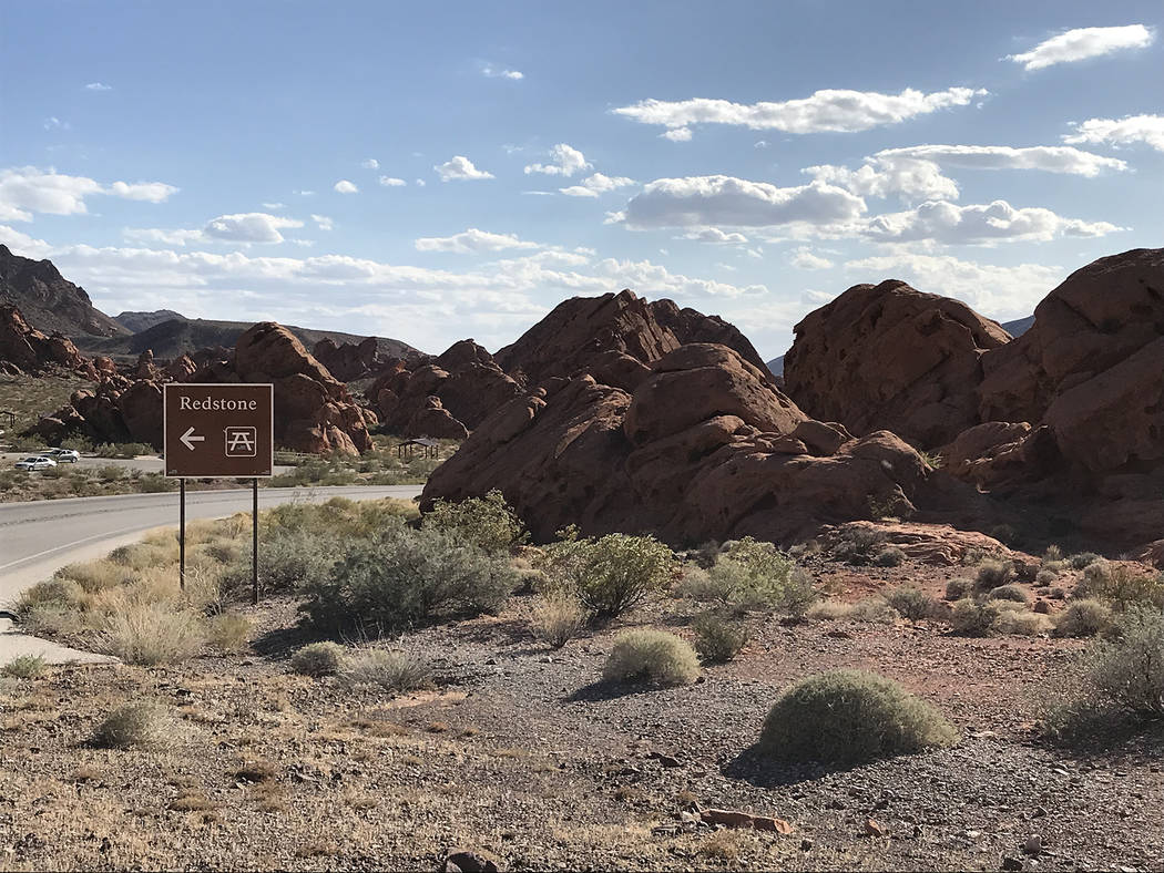 Redstone at Lake Mead National Recreation Area offers an easy hike around the sandstone formati ...