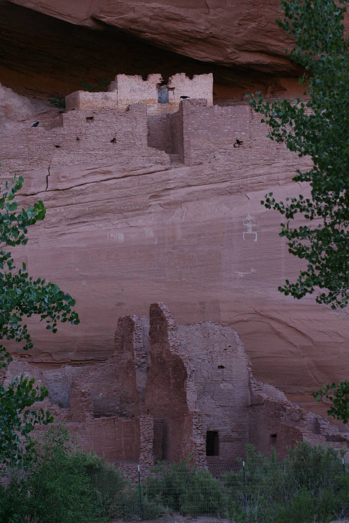 (Deborah Wall) Ruins of former dwellings are found throughout the Canyon de Chelly National Mon ...