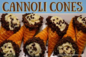 (Patti Diamond) Use premade waffle ice cream cones to make cannoli. It cuts out the most diffic ...