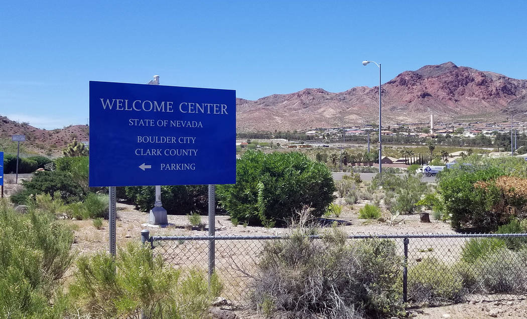 (Celia Shortt Goodyear/Boulder City Review) The Nevada Welcome Center, 100 Nevada Way, is closi ...