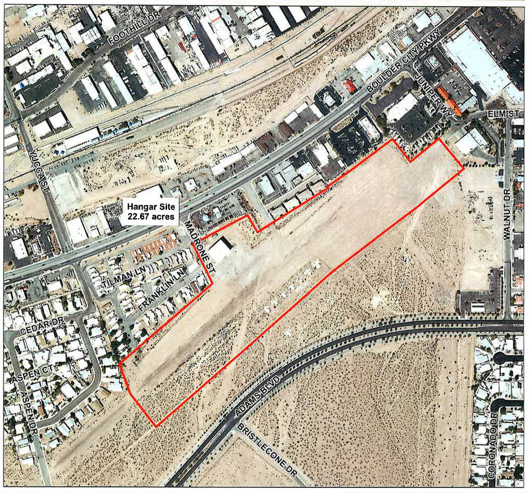 (Boulder City) The city is seeking proposals for ways the old airport property, 1401 Boulder Ci ...