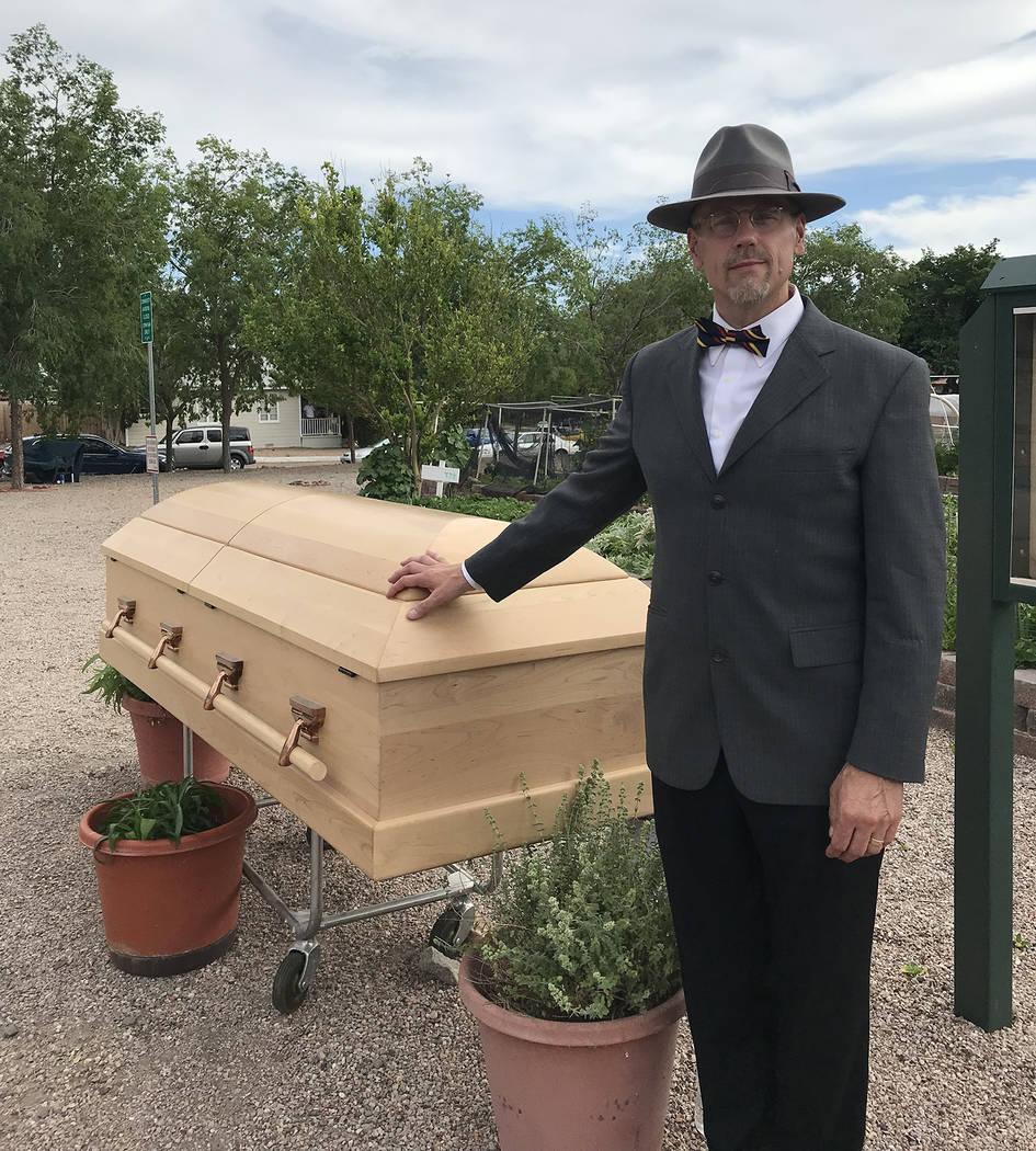 "(Hali Bernstein Saylor/Boulder City Review) Ray White, author of ""Gun Crazy,"" a murder mystery ..."