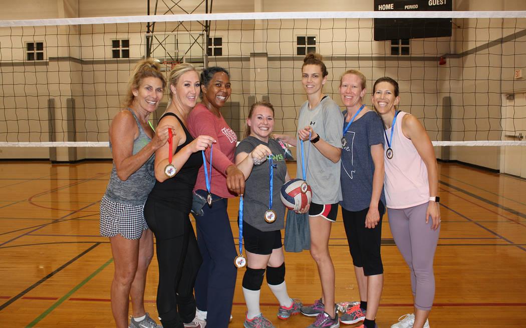 (Kelly Lehr) Members of the Amazon team, from left, Lori Dunsmore, Roxanne Lamar, Jo Johnson, K ...