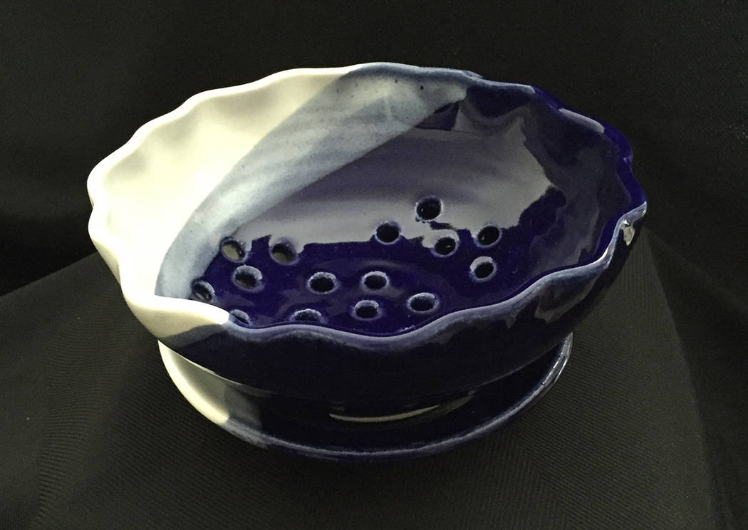 (Boulder City Art Guild) Ceramic berry bowls are among the works by Anne Gravett that will be o ...