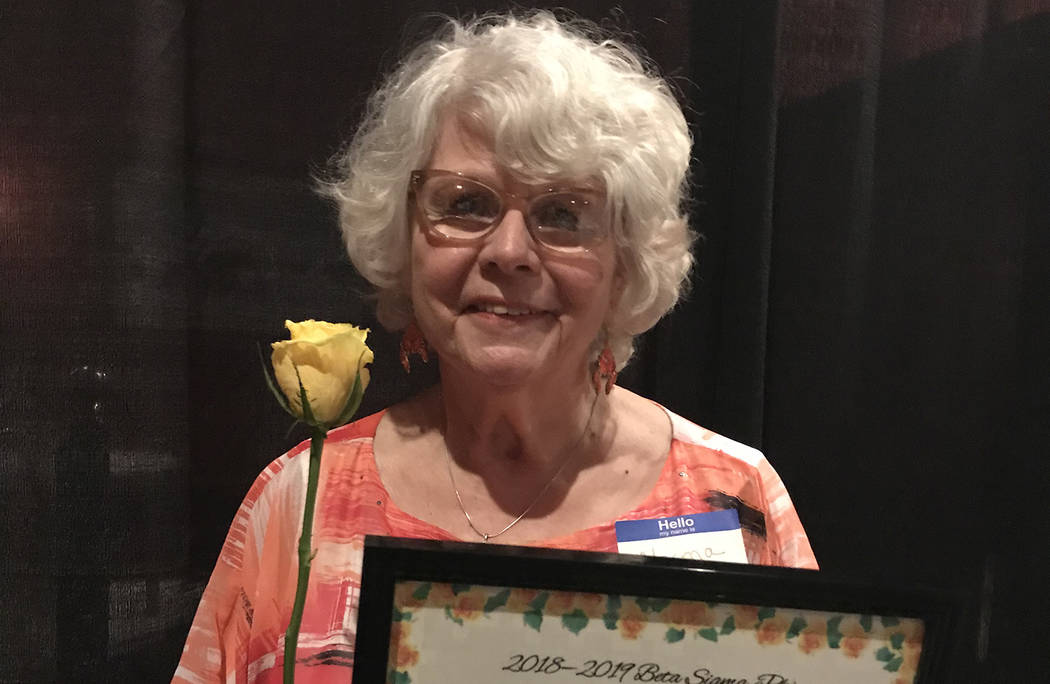 (Hali Bernstein Saylor/Boulder City Review) Norma Barth was named Community Lady of the Year by ...