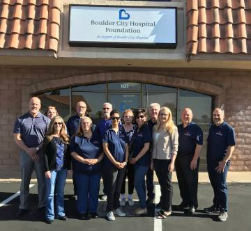 (Copper Mountain Solar) Boulder City Hospital was presented with a $1,000 donation from Copper ...