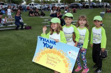 (Kelly Lehr) Members of Boulder City Parks and Recreation Department's T-ball team sponsored by ...