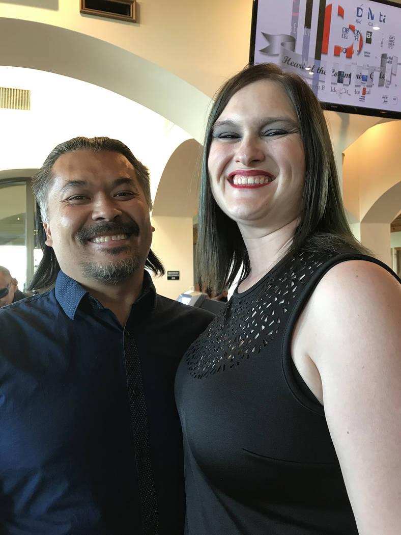 (Hali Bernstein Saylor/Boulder City Review) David and Traci Polak were among those attending Bo ...