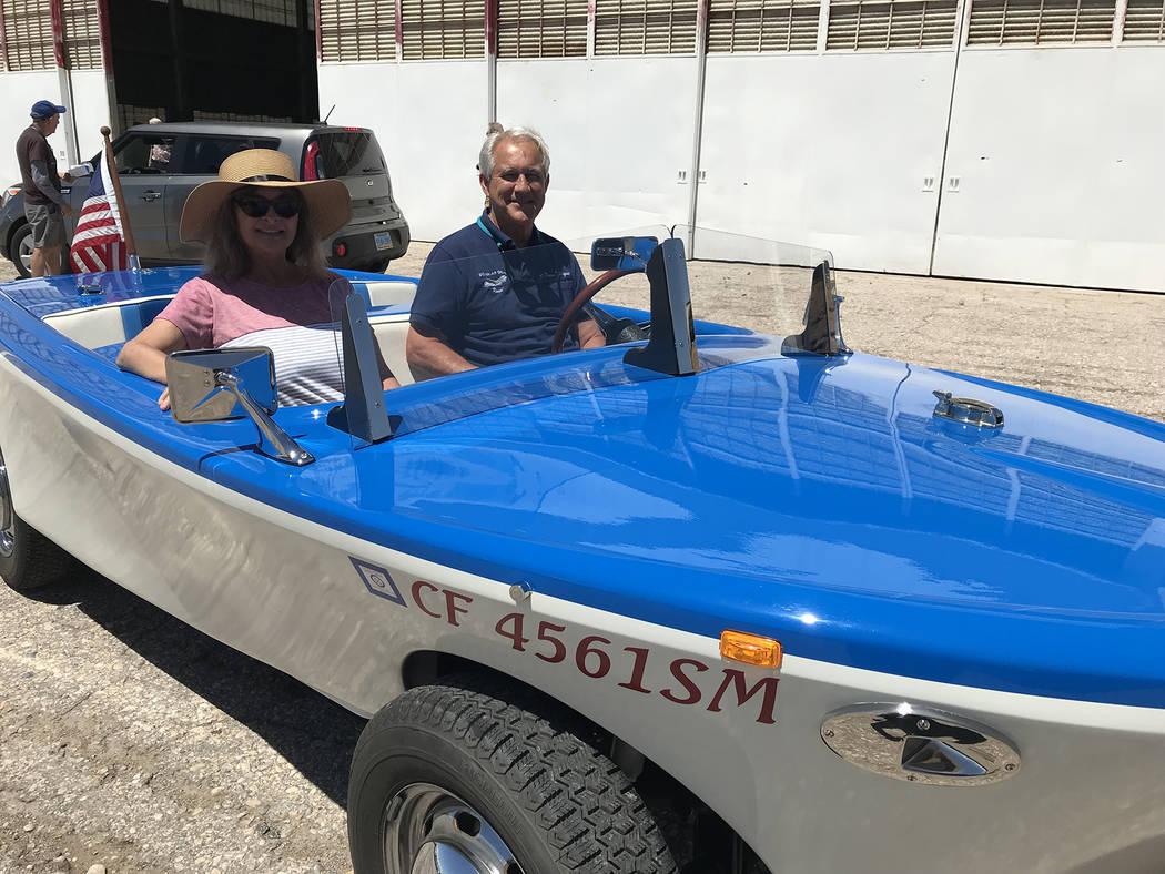 (Hali Bernstein Saylor/Boulder City Review) Kevin and Elisa Savord of Boulder City traveled to ...