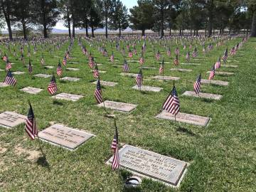 A Memorial Day ceremony will be held at 1 p.m. Monday, May 27, at the Southern Nevada Veterans ...