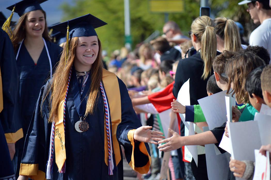 (Celia Shortt Goodyear/Boulder City Review) Boulder City High School senior Clairese Murray sha ...