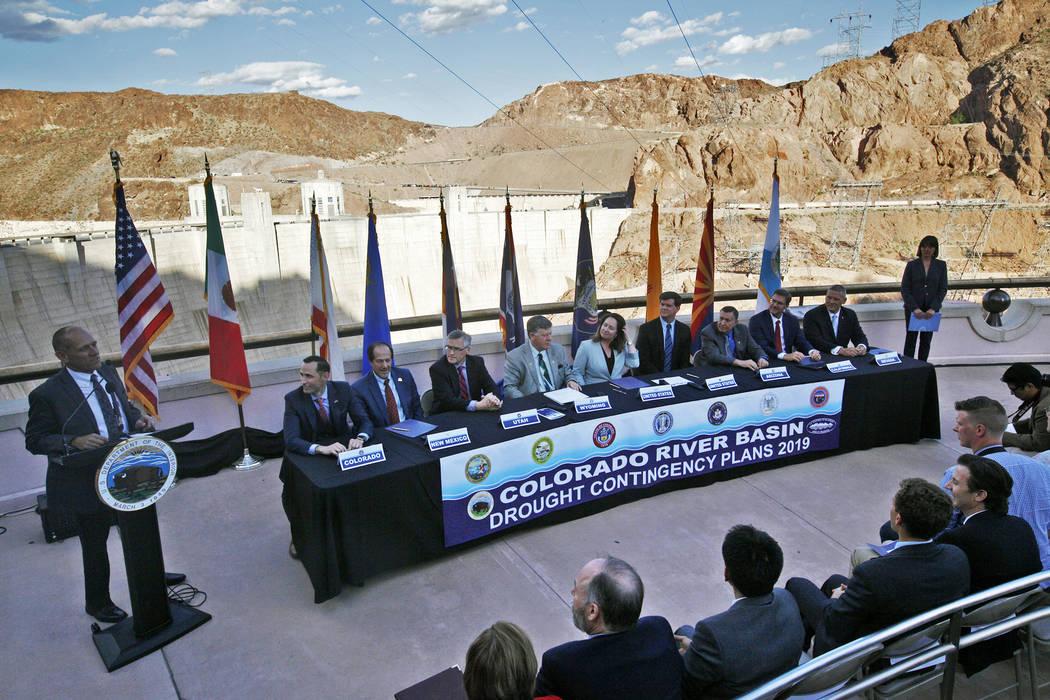 (Rachel Aston/Las Vegas Review-Journal) Terry Fulp, lower Colorado regional director for the Bu ...