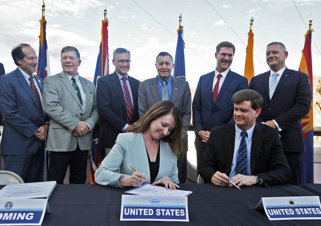 (Rachel Aston/Las Vegas Review-Journal) Commissioner of the U.S. Bureau of Reclamation Brenda B ...