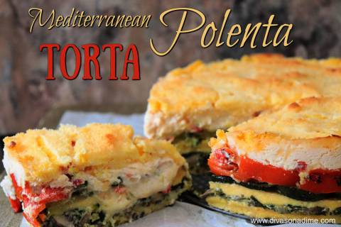 (Patti Diamond) Fresh polenta provides the base for a torta filled with spinach, zucchini and r ...