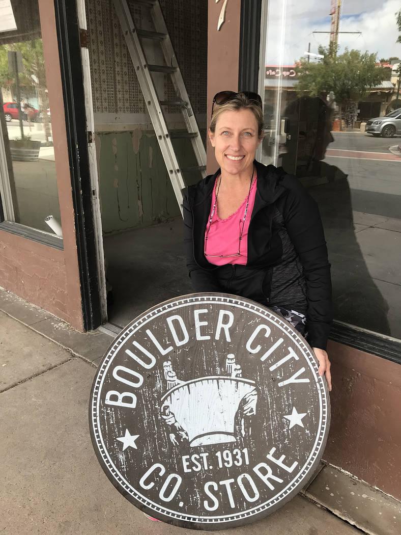 (Hali Bernstein Saylor/Boulder City Review) Tara Bertoli is opening Boulder City Co. Store at 5 ...