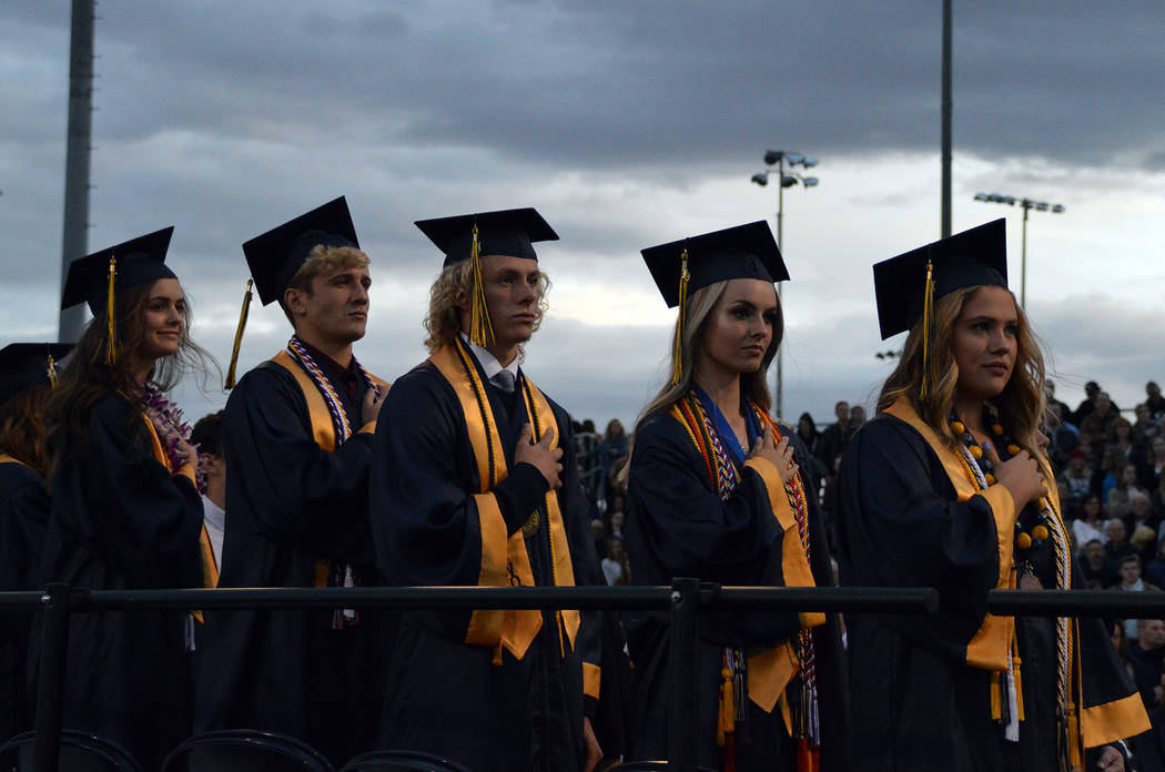 (Celia Shortt Goodyear/Boulder City Review) Members of Boulder City High School's class of 2019 ...