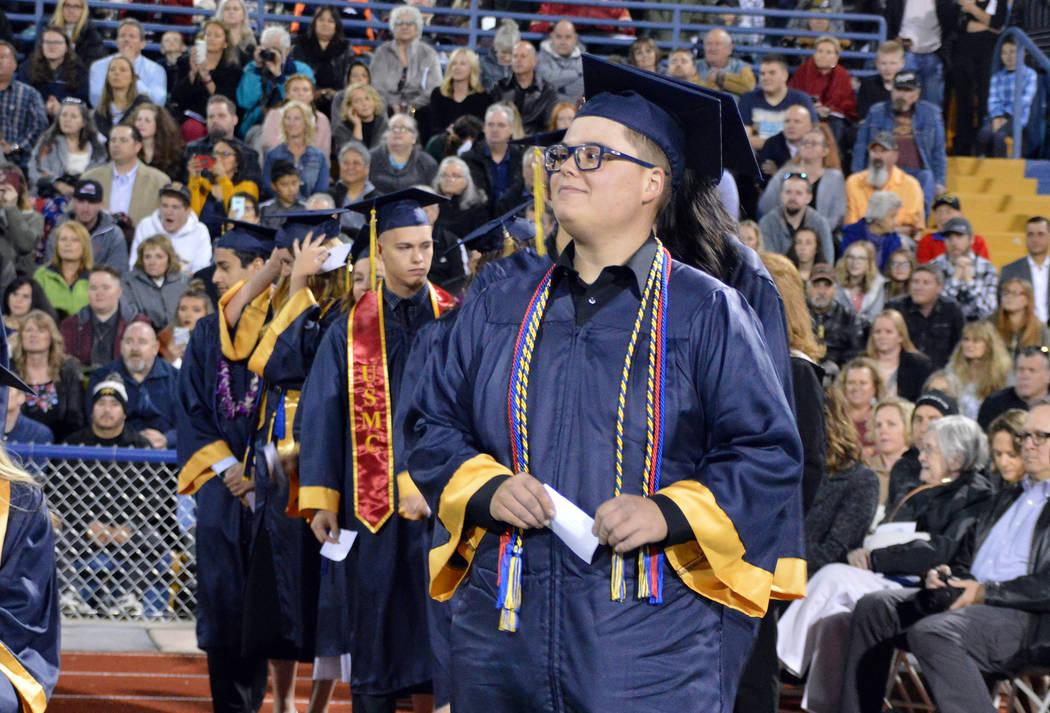 (Celia Shortt Goodyear/Boulder City Review) Boulder City High School graduating senior Cooper C ...
