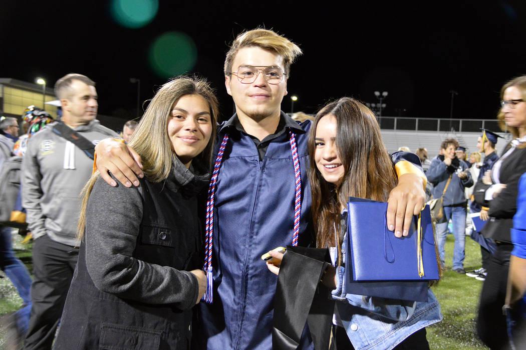 (Celia Shortt Goodyear/Boulder City Review) Airan Pohe celebrates his graduation from Boulder C ...