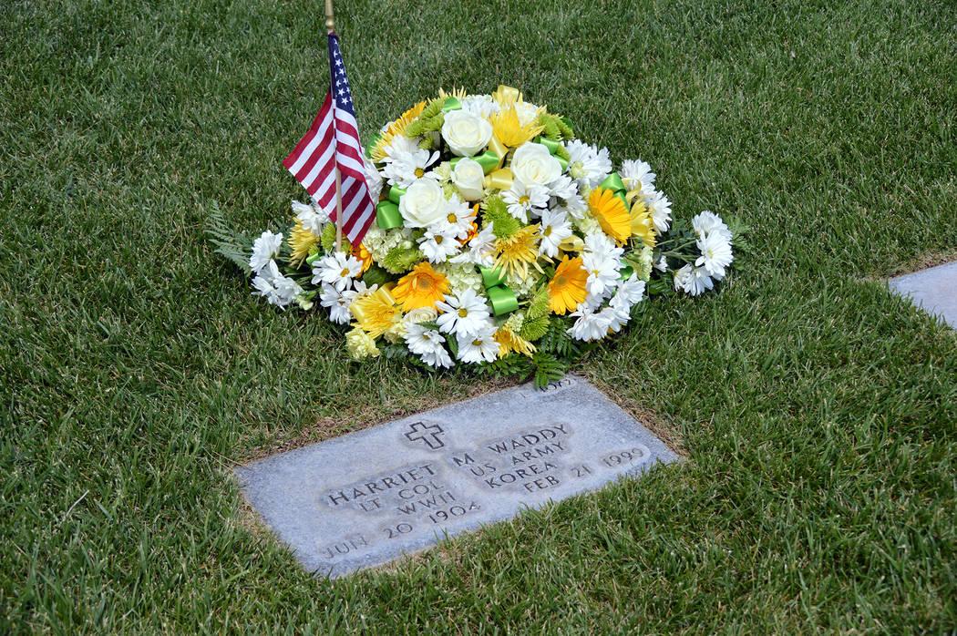 (Celia Shortt Goodyear/Boulder City Review) Retired U.S. Army Lt. Col. Harriet M. Hardin West W ...