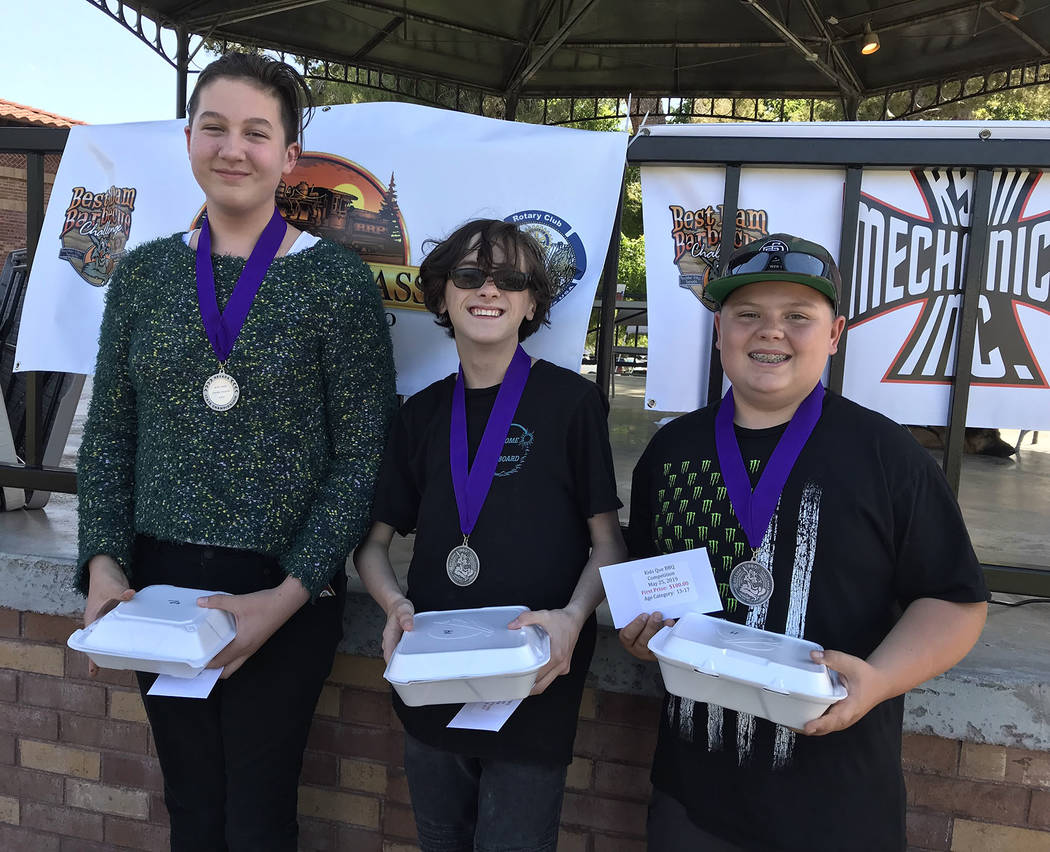 (Hali Bernstein Saylor/Boulder City Review) Winners of the Kids Que contest in the 13-17-year-o ...