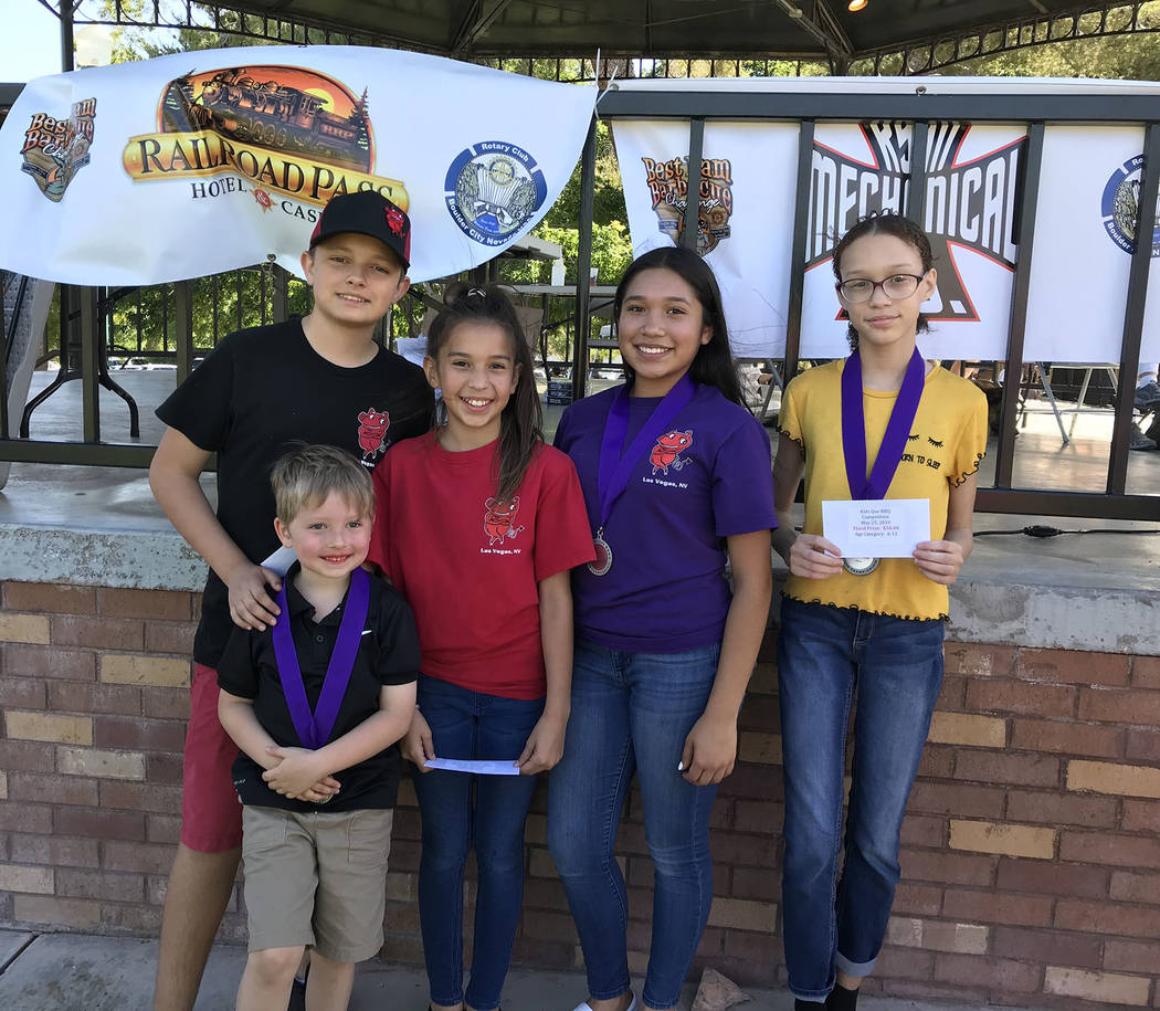 (Hali Bernstein Saylor/Boulder City Review) Winners of the Kids Que contest in the 6-12-year-ol ...