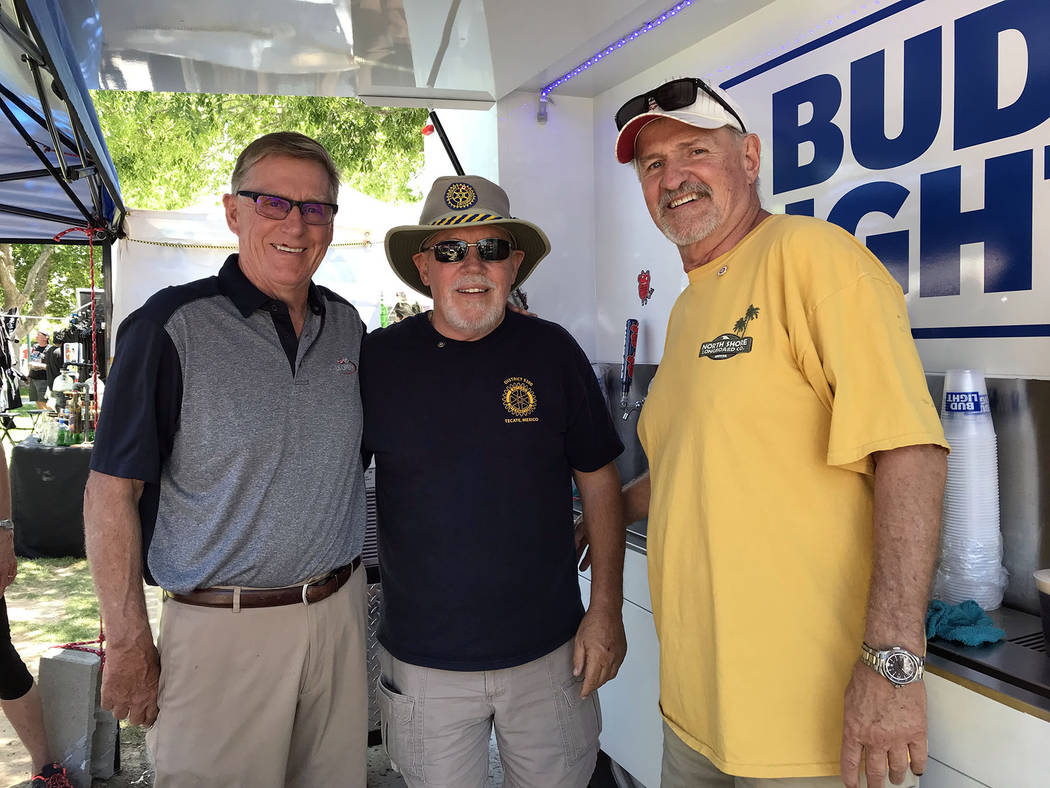 (Hali Bernstein Saylor/Boulder City Review) Manning the beer booth during the Best Dam Barbecue ...