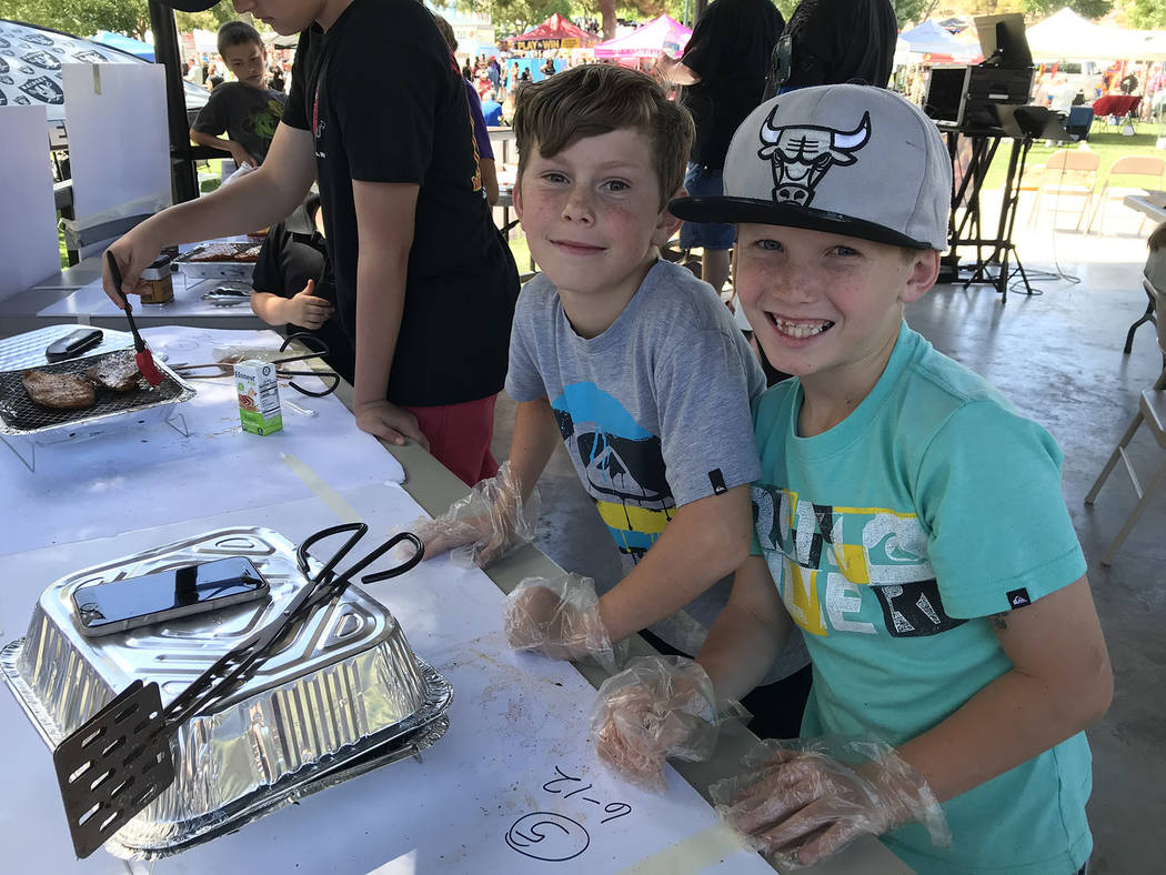 (Hali Bernstein Saylor/Boulder City Review) Among those competing in the Kids Que division for ...
