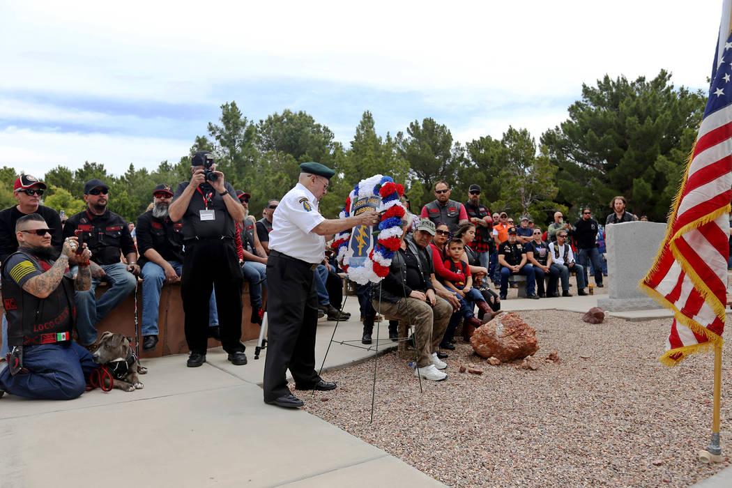 (Rachel Aston/Las Vegas Review-Journal) Frank Flores, a member of the Special Forces Associatio ...