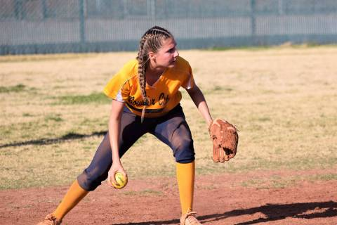 Boulder City High School senior Ryann Reese, seen in a game last March against Western, was nam ...