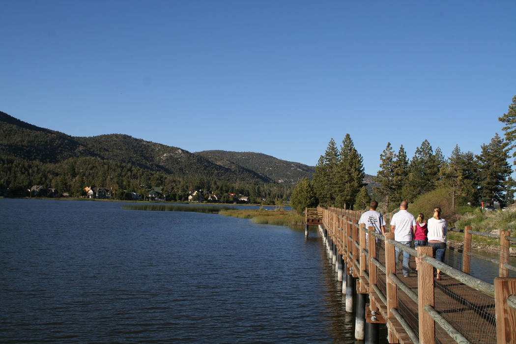 (Deborah Wall) Big Bear Lake is about 8 miles long and about 1 mile wide; it offers 23 miles of ...