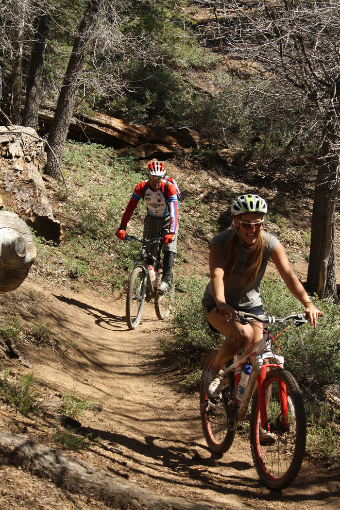 (Deborah Wall) Mountain bike trails at Big Bear Lake in California can be accessed from the Sno ...