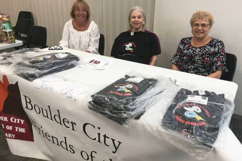 (Hali Bernstein Saylor/Boulder City Review) Boulder City Friends of the Library members, from l ...