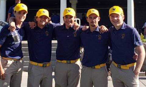 (Meghan Schaper) Members of Boulder City High School's boys golf team are, from left, Ja ...