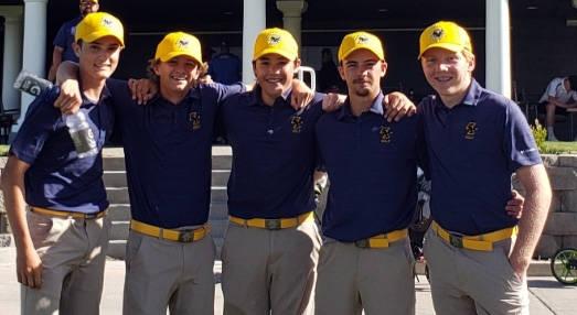 (Meghan Schaper) Members of Boulder City High School's boys golf team are, from left, Ja ...