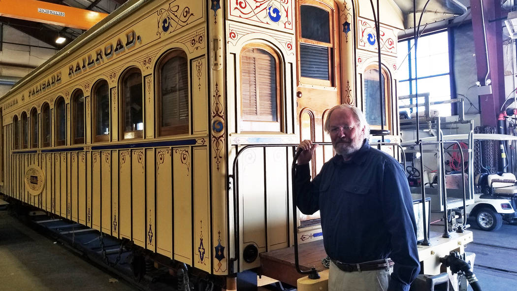 (Celia Shortt Goodyear/Boulder City Review) Nevada State Railroad Museum Director Randy Hees st ...