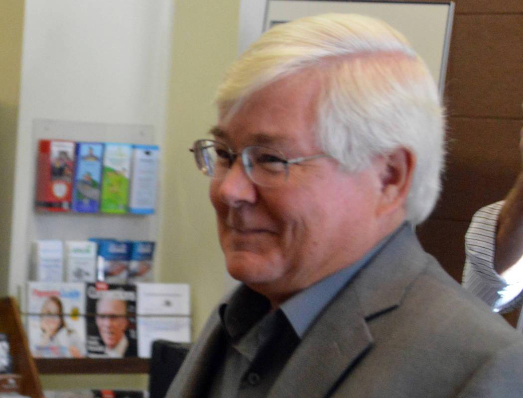 (Celia Shortt Goodyear/Boulder City Review) Councilman Kiernan McManus was elected mayor of Bou ...