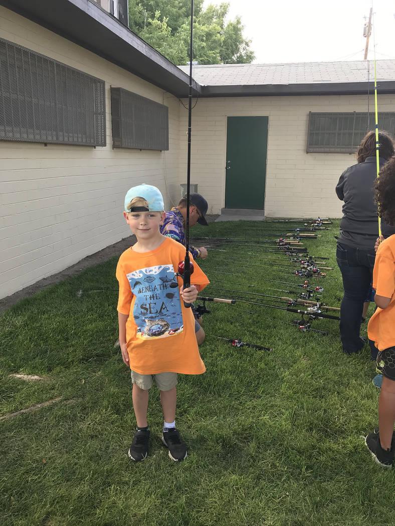 (Hali Bernstein Saylor/Boulder City Review) Owen Horning, 6, a member of Boy Scout Den 1, Pack ...