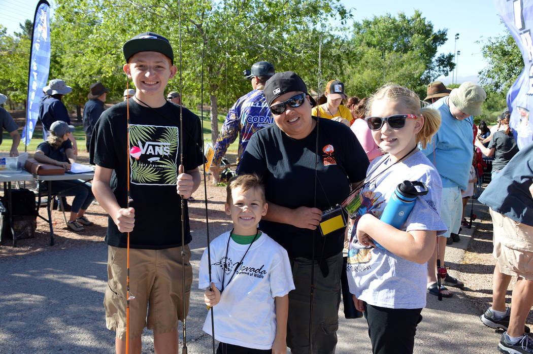 (Celia Shortt Goodyear/Boulder City Review) Among those participating in Free Fishing Day on Sa ...