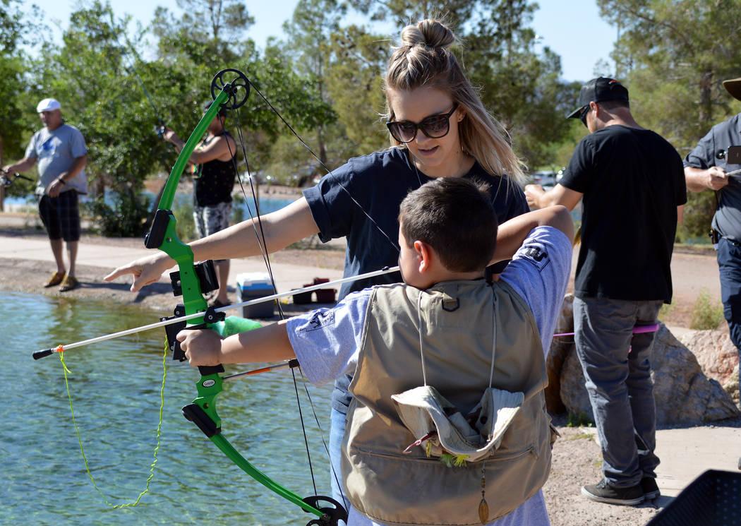 (Celia Shortt Goodyear/Boulder City Review) Holly Brisendine of the Nevada Department of Wildli ...