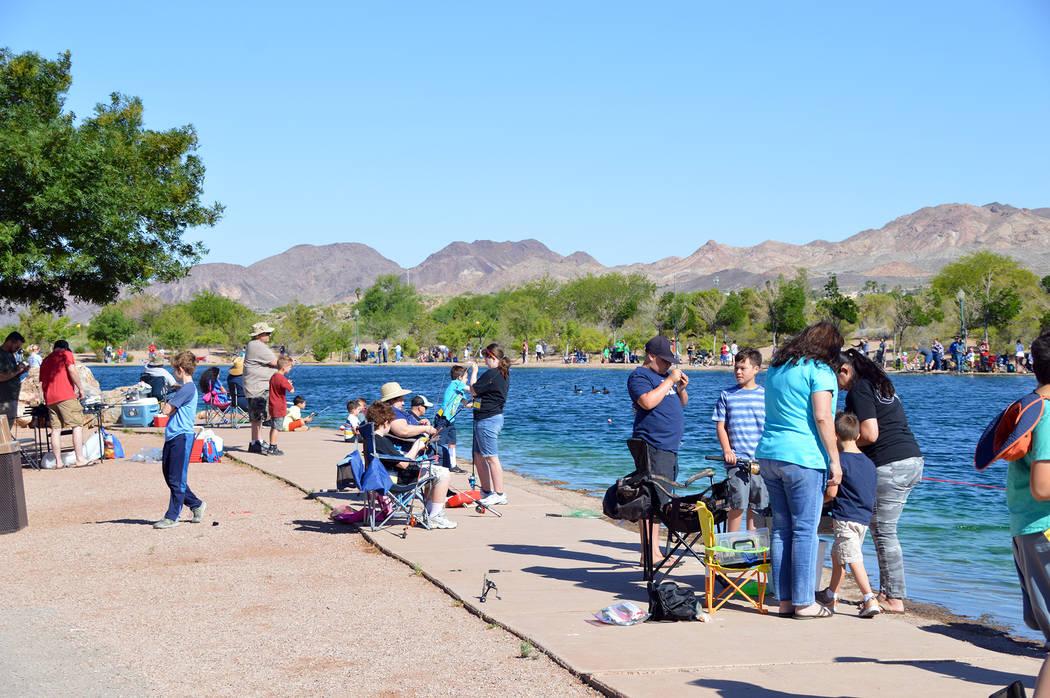 (Celia Shortt Goodyear/Boulder City Review) Veterans' Memorial Park in Boulder City was filled ...