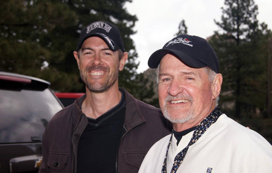(Roger Hall) Tony Scheppmann, left, and his father, Doug Scheppmann, participate in a recent Bo ...