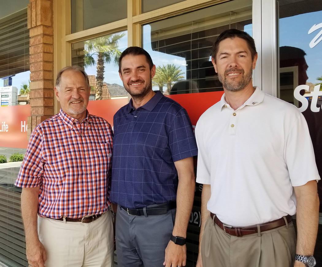 (Celia Shortt Goodyear/Boulder City Review) Doug Scheppmann, left and his sons, Scott, center, ...