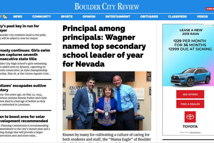 (Boulder City Review) Bouldercityreview.com debuts a new look today, June 13, that is cleaner a ...