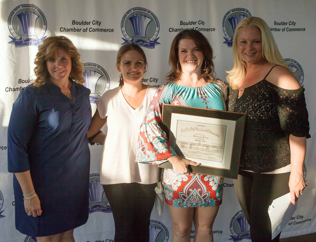 (Boulder City Chamber of Commerce) Danielle Smith and Dance Etc. owner Anna McKay, second and t ...