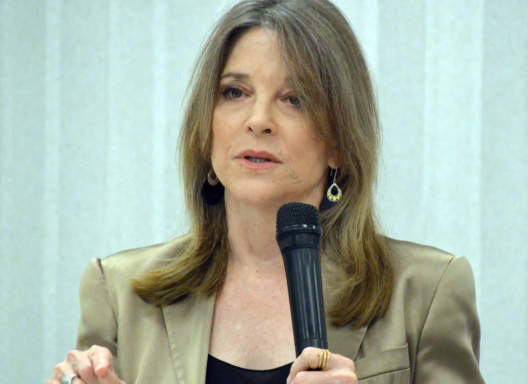 Celia Shortt Goodyear/Boulder City Review Democratic presidential candidate Marianne Williamson ...