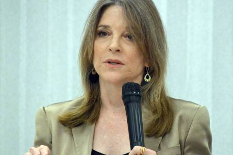 Celia Shortt Goodyear/Boulder City Review Democratic presidential candidate Marianne Williamson ...