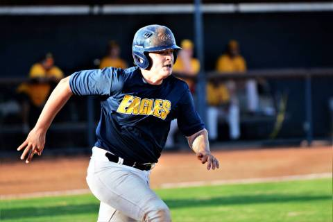 (Robert Vendettoli/Boulder City Review) Brendan Thorpe of the Southern Nevada Eagles 18U baseba ...