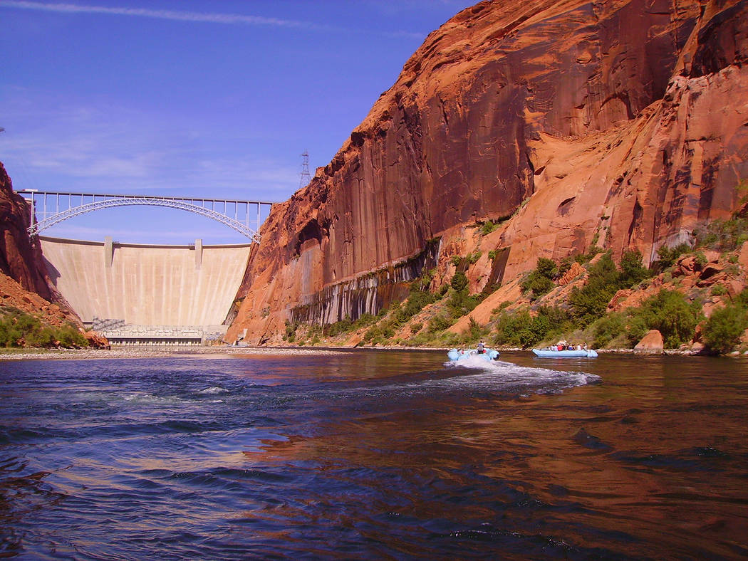 (Deborah Wall) Smooth-water raft trips along the Colorado River begin directly below the Glen C ...