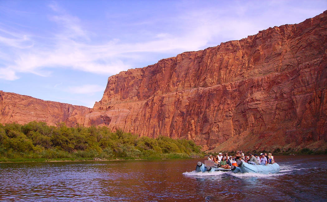 (Deborah Wall) Smooth-water raft trips along the Colorado River offer unique views of Glen Cany ...