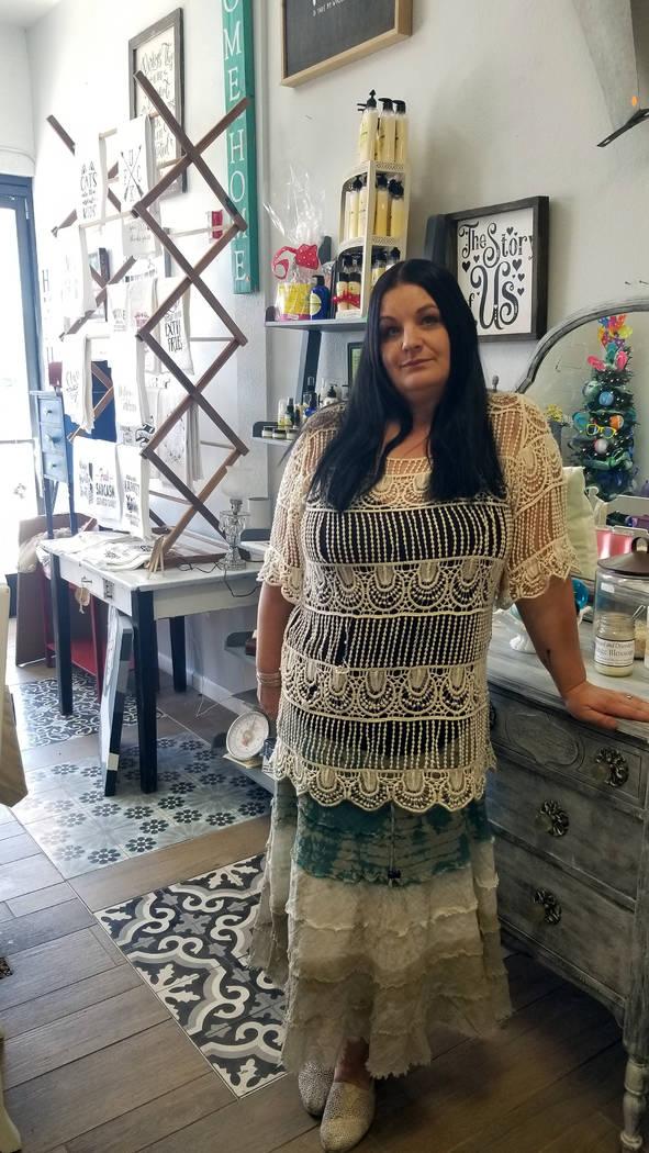 (Celia Shortt Goodyear/Boulder City Review) Kari Livingston, owner of Distressed & Disorderly, ...